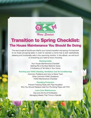 Transition to Spring Checklist Killingsworth Environmental 2